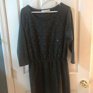 Loft Medium Sweater Dress w Accents